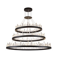 Malta LED 42 inch Satin Dark Grey Chandelier Ceiling Light, Urban Classic