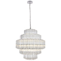 Riviera 12 Light 24 inch Chrome Chandelier Ceiling Light, Urban Classic