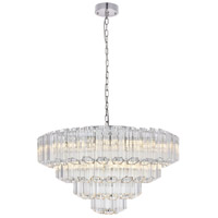 Riviera 9 Light 26 inch Chrome Chandelier Ceiling Light, Urban Classic