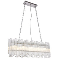 Riviera 5 Light 7 inch Chrome Chandelier Ceiling Light, Urban Classic