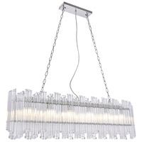 Elegant Lighting 1707G50C Riviera 6 Light 7 inch Chrome Chandelier Ceiling Light Urban Classic