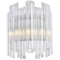 Riviera 1 Light 7 inch Chrome Wall Sconce Wall Light, Urban Classic
