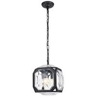 Elegant Lighting 1711D11FB Juno 4 Light 11 inch Flat Black Pendant Ceiling Light Urban Classic