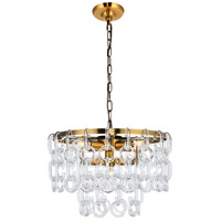 Elegant Lighting 1713D16LAB Eden 5 Light 16 inch Light Antique Brass Pendant Ceiling Light Urban Classic