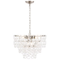 Elegant Lighting 1713D20PN Debutante 6 Light 20 inch Polished Nickel Pendant Ceiling Light, Urban Classic
