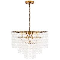 Elegant Lighting 1713D24LAB Debutante 9 Light 24 inch Light Antique Brass Pendant Ceiling Light Urban Classic