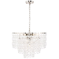 Elegant Lighting 1713D24PN Debutante 9 Light 24 inch Polished Nickel Pendant Ceiling Light, Urban Classic