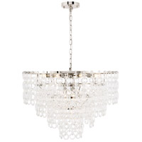Elegant Lighting 1713D32PN Debutante 12 Light 32 inch Polished Nickel Pendant Ceiling Light, Urban Classic