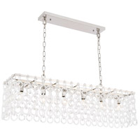Elegant Lighting 1714D40PN Debutante 6 Light 10 inch Polished Nickel Pendant Ceiling Light, Urban Classic