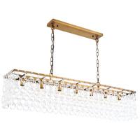 Elegant Lighting 1714D50LAB Debutante 7 Light 10 inch Light Antique Brass Pendant Ceiling Light Urban Classic