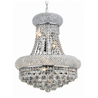 Elegant Lighting Primo 8 Light Dining Chandelier in Chrome with Royal Cut Clear Crystal 1800D16C/RC