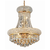 Elegant Lighting Primo 8 Light Dining Chandelier in Gold with Swarovski Strass Clear Crystal 1800D16G/SS