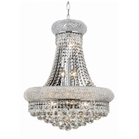 Elegant Lighting Primo 14 Light Dining Chandelier in Chrome with Swarovski Strass Clear Crystal 1800D20C/SS
