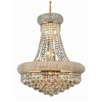 Elegant Lighting Primo 14 Light Dining Chandelier in Gold with Swarovski Strass Clear Crystal 1800D20G/SS