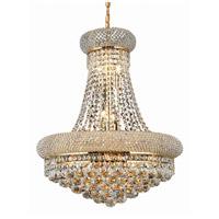 Elegant Lighting V1800D20G/EC Primo 14 Light 20 inch Gold Dining Chandelier Ceiling Light in Elegant Cut