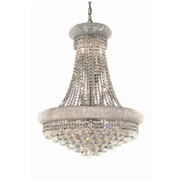 Elegant Lighting Primo 14 Light Dining Chandelier in Chrome with Elegant Cut Clear Crystal 1800D24C/EC
