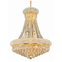Elegant Lighting Primo 14 Light Dining Chandelier in Gold with Elegant Cut Clear Crystal 1800D24G/EC