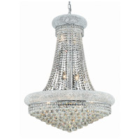 Elegant Lighting Primo 14 Light Dining Chandelier in Chrome with Elegant Cut Clear Crystal 1800D28C/EC