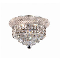 Elegant Lighting Primo 3 Light Flush Mount in Chrome with Elegant Cut Clear Crystal 1800F10C/EC
