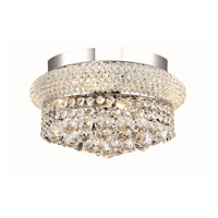 Elegant Lighting Primo 4 Light Flush Mount in Chrome with Royal Cut Clear Crystal 1800F12C/RC alternative photo thumbnail