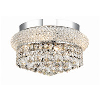 Primo 4 Light 12 inch Chrome Flush Mount Ceiling Light in Royal Cut