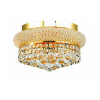 Elegant Lighting Primo 4 Light Flush Mount in Gold with Swarovski Strass Clear Crystal 1800F12G/SS alternative photo thumbnail