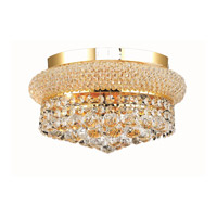 Elegant Lighting Primo 4 Light Flush Mount in Gold with Elegant Cut Clear Crystal 1800F12G/EC alternative photo thumbnail