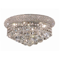 Elegant Lighting Primo 6 Light Flush Mount in Chrome with Swarovski Strass Clear Crystal 1800F14C/SS