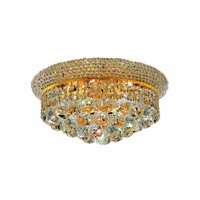 Elegant Lighting Primo 6 Light Flush Mount in Gold with Swarovski Strass Clear Crystal 1800F14G/SS alternative photo thumbnail