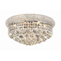 Primo 8 Light 16 inch Chrome Flush Mount Ceiling Light in Elegant Cut