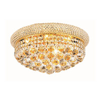 Elegant Lighting Primo 8 Light Flush Mount in Gold with Royal Cut Clear Crystal 1800F16G/RC alternative photo thumbnail