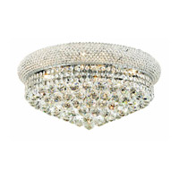 Elegant Lighting Primo 10 Light Flush Mount in Chrome with Swarovski Strass Clear Crystal 1800F20C/SS alternative photo thumbnail