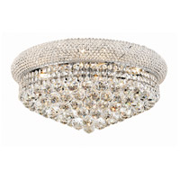 Elegant Lighting Primo 10 Light Flush Mount in Chrome with Swarovski Strass Clear Crystal 1800F20C/SS