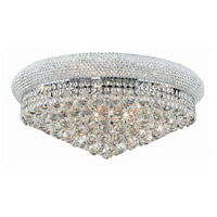 Elegant Lighting Primo 12 Light Flush Mount in Chrome with Swarovski Strass Clear Crystal 1800F24C/SS