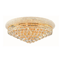Elegant Lighting Primo 12 Light Flush Mount in Gold with Royal Cut Clear Crystal 1800F24G/RC alternative photo thumbnail