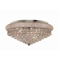 Elegant Lighting Primo 15 Light Flush Mount in Chrome with Swarovski Strass Clear Crystal 1800F28C/SS