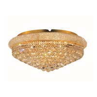 Elegant Lighting Primo 15 Light Flush Mount in Gold with Swarovski Strass Clear Crystal 1800F28G/SS alternative photo thumbnail
