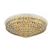 Elegant Lighting Primo 20 Light Flush Mount in Gold with Swarovski Strass Clear Crystal 1800F36G/SS alternative photo thumbnail