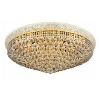 Elegant Lighting Primo 20 Light Flush Mount in Gold with Elegant Cut Clear Crystal 1800F36G/EC