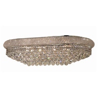 Primo 18 Light 50 inch Silver and Clear Mirror Flush Mount Ceiling Light in Swarovski Strass