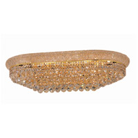 Elegant Lighting Primo 18 Light Flush Mount in Gold with Swarovski Strass Clear Crystal 1800F36SG/SS