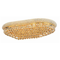 Elegant Lighting Primo 24 Light Flush Mount in Gold with Elegant Cut Clear Crystal 1800F40SG/EC