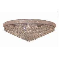 Elegant Lighting Primo 30 Light Flush Mount in Chrome with Swarovski Strass Clear Crystal 1800F42C/SS