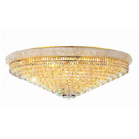 Elegant Lighting Primo 30 Light Flush Mount in Gold with Elegant Cut Clear Crystal 1800F42G/EC