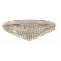 Elegant Lighting V1800F48C/SS Primo 33 Light 48 inch Chrome Flush Mount Ceiling Light in Swarovski Strass photo thumbnail