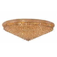 Elegant Lighting Primo 33 Light Flush Mount in Gold with Swarovski Strass Clear Crystal 1800F48G/SS