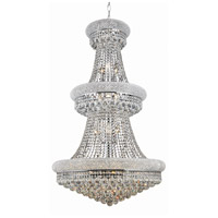 Elegant Lighting Primo 32 Light Foyer in Chrome with Royal Cut Clear Crystal 1800G30C/RC