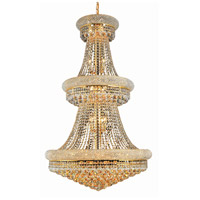 Elegant Lighting Primo 32 Light Foyer in Gold with Swarovski Strass Clear Crystal 1800G30G/SS