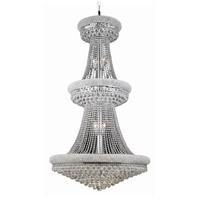 Elegant Lighting Primo 32 Light Foyer in Chrome with Elegant Cut Clear Crystal 1800G36C/EC