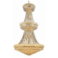 Elegant Lighting Primo 32 Light Foyer in Gold with Swarovski Strass Clear Crystal 1800G36G/SS